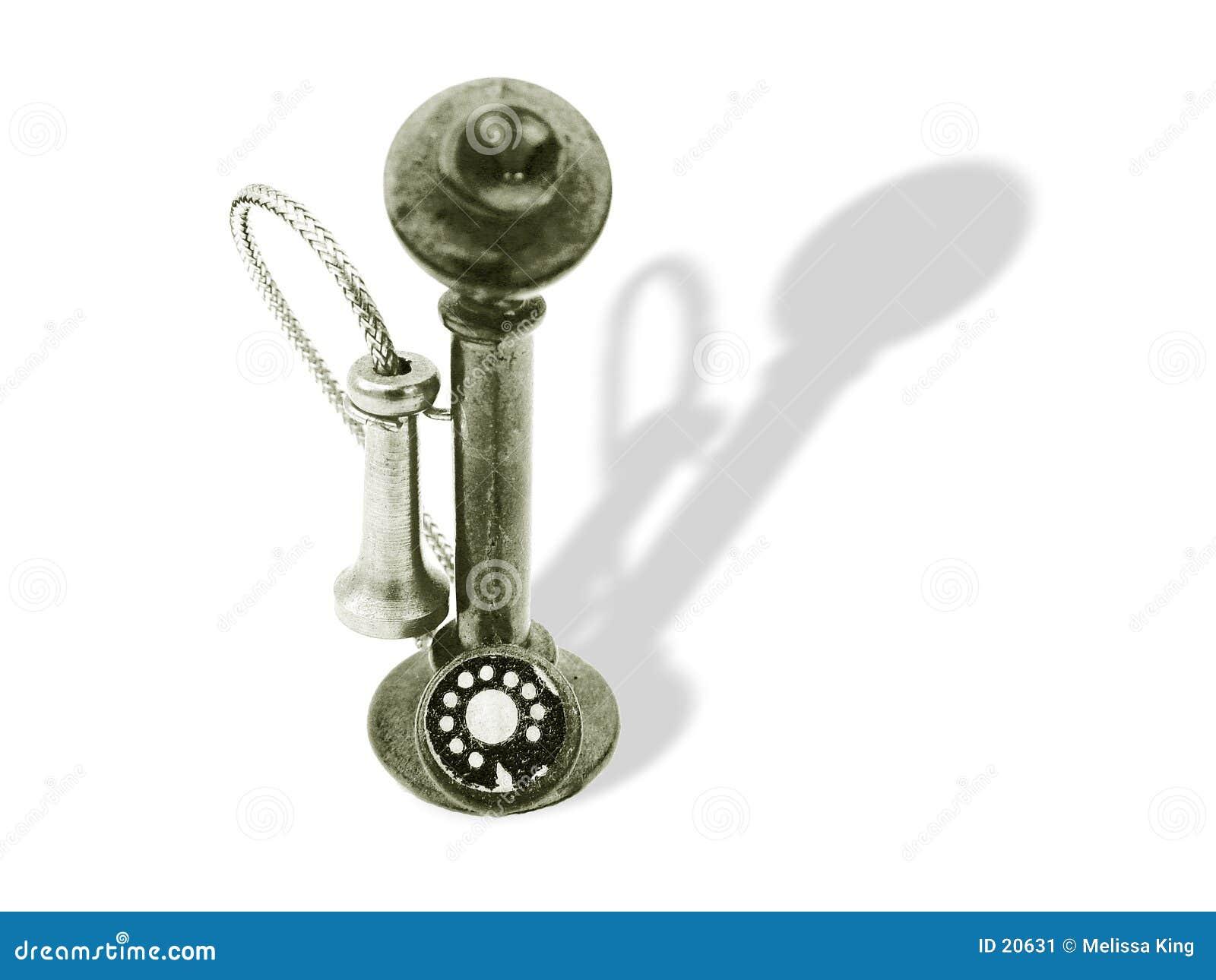 Teléfono viejo de la manera