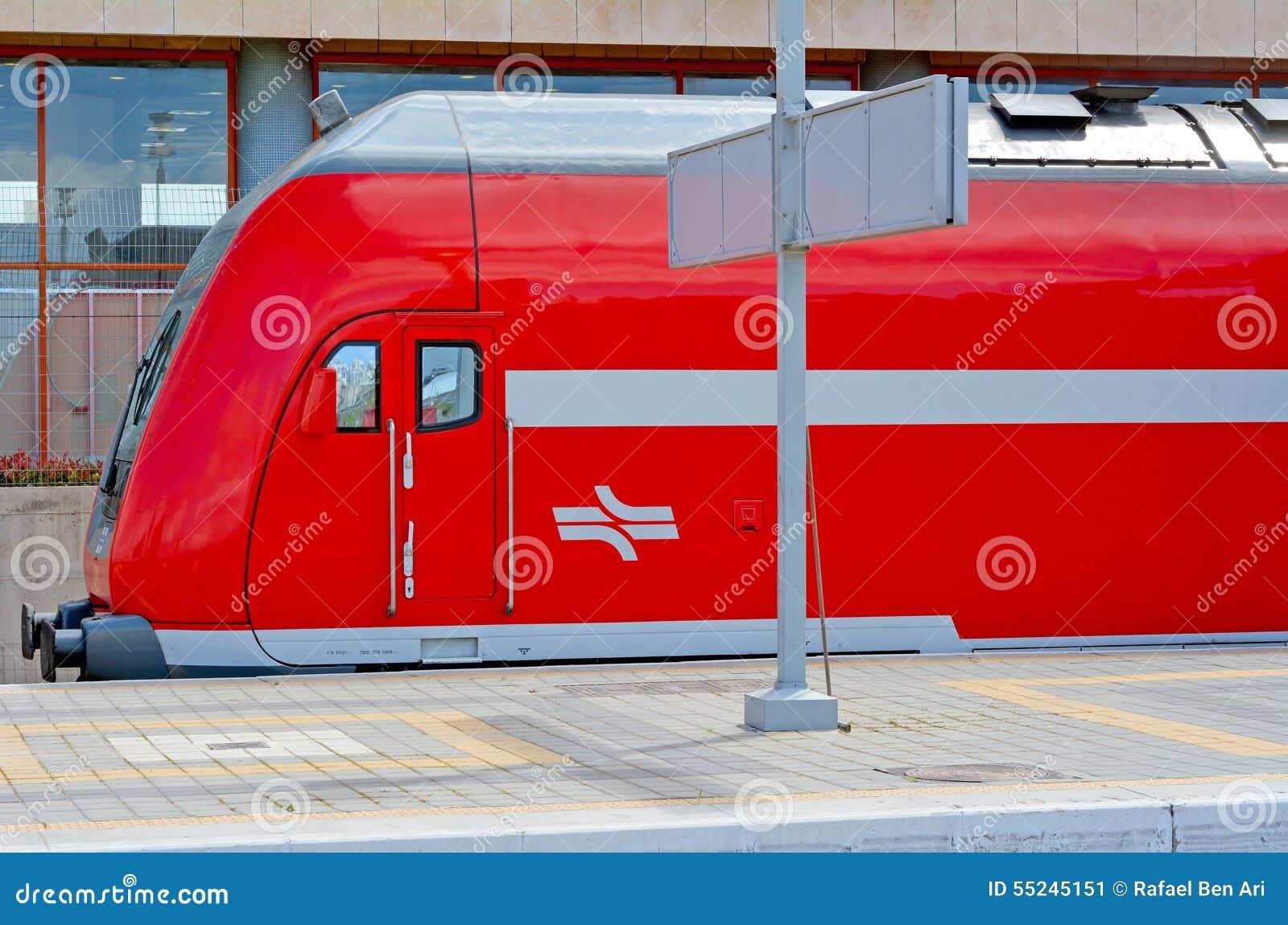 a586e3b778 TEL AVIV - APR 01 2015 An Israeli Bombardier double-deck coach in Tel Aiv