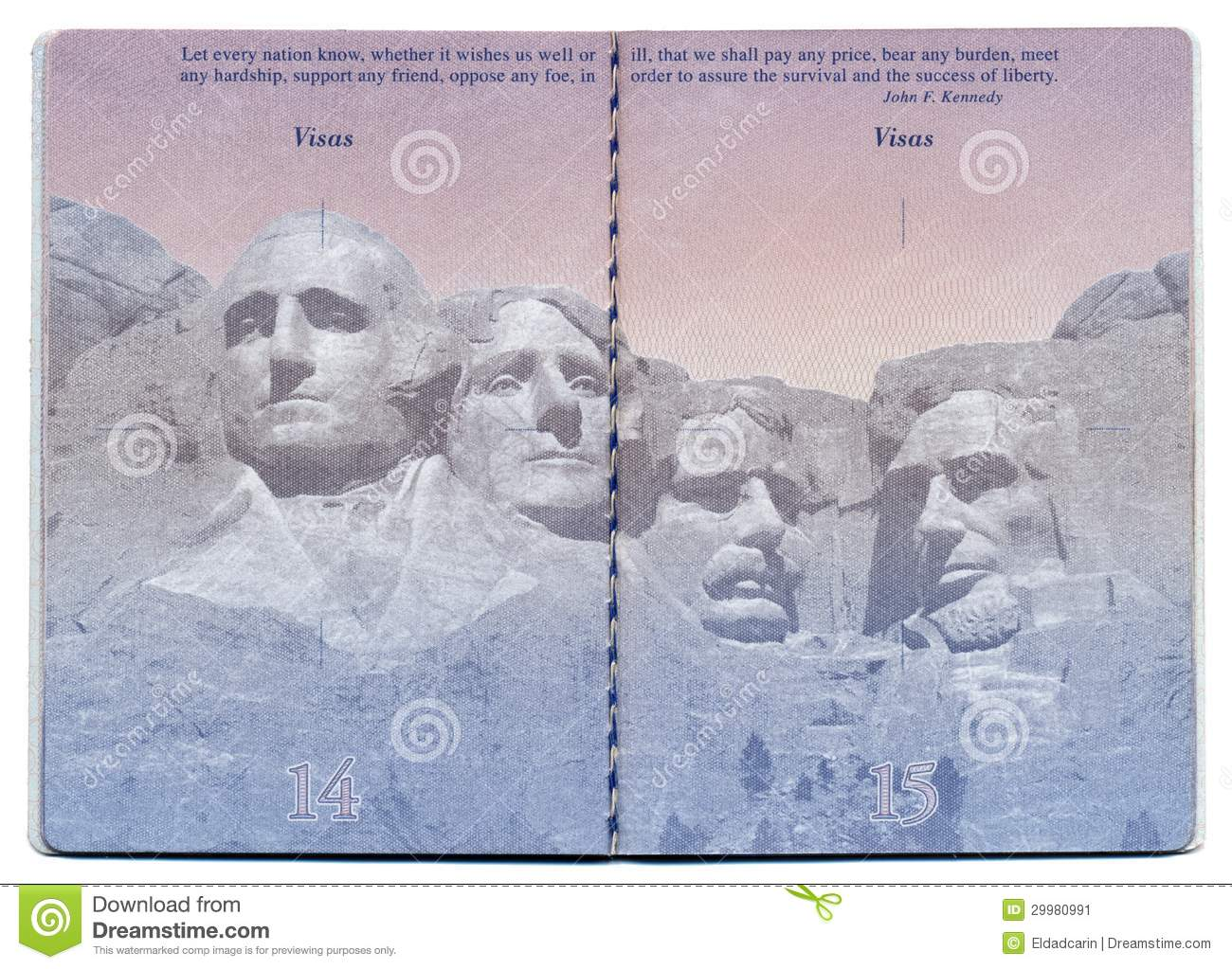 USA Passport Blank Page editorial photo. Image of customs ...