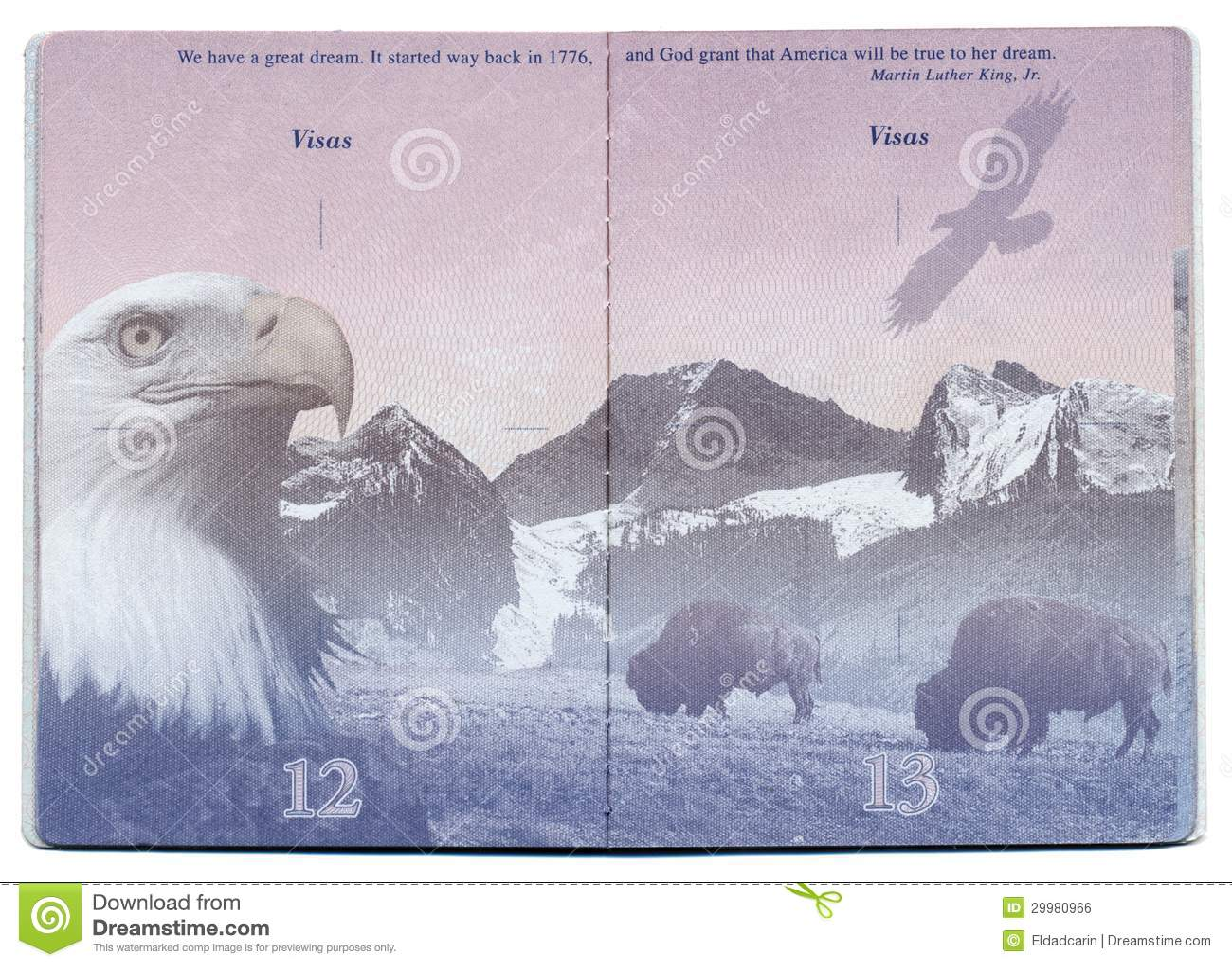 USA Passport Blank Page editorial photo. Image of ...