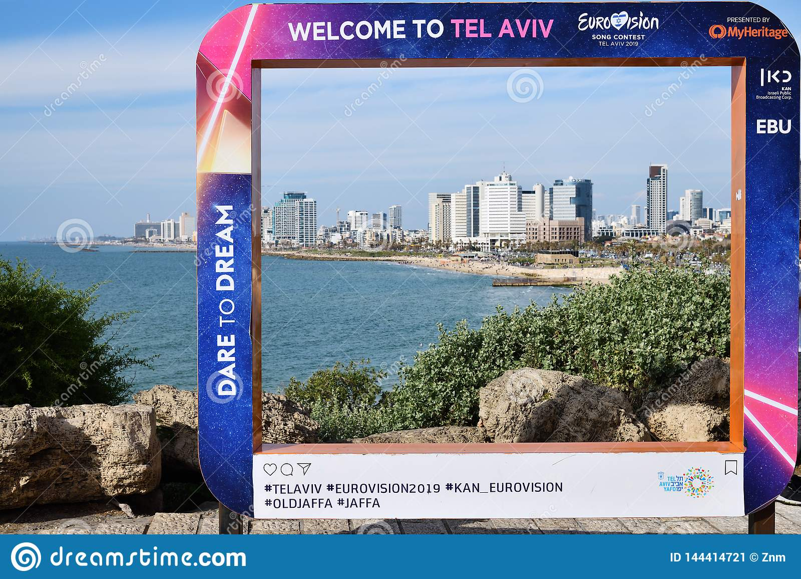 Eurovision Song Contest 2019 Tel Aviv poster. Israel