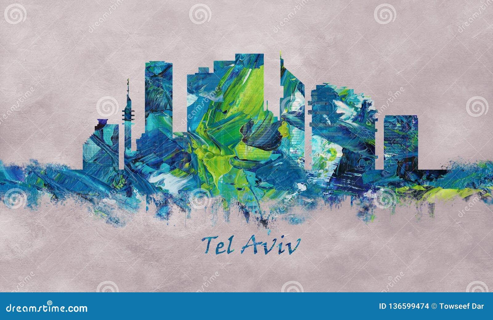 Tel. Aviv Israel Skyline