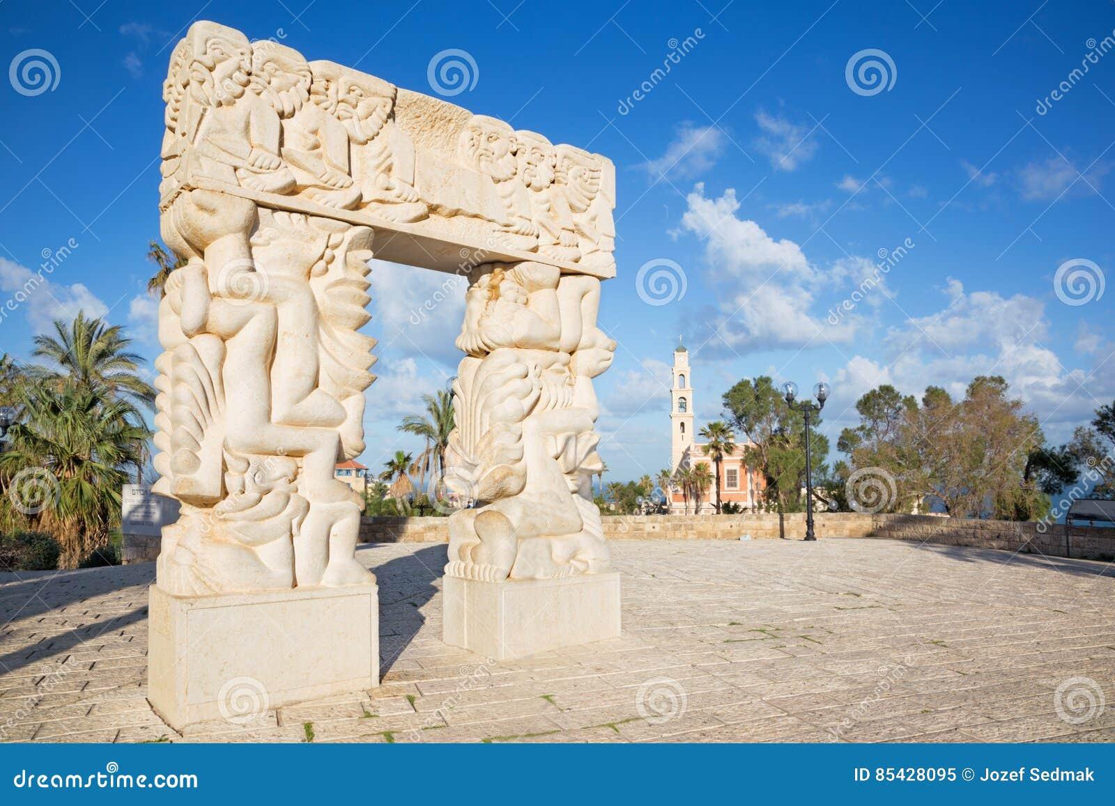 Tel Aviv - la statue contemporaine moderne de ` de sculpture de la foi en Gan HaPisga Summit Garden