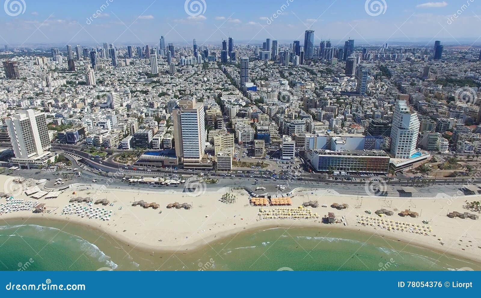 tel aviv skyline stock photo image 78054376