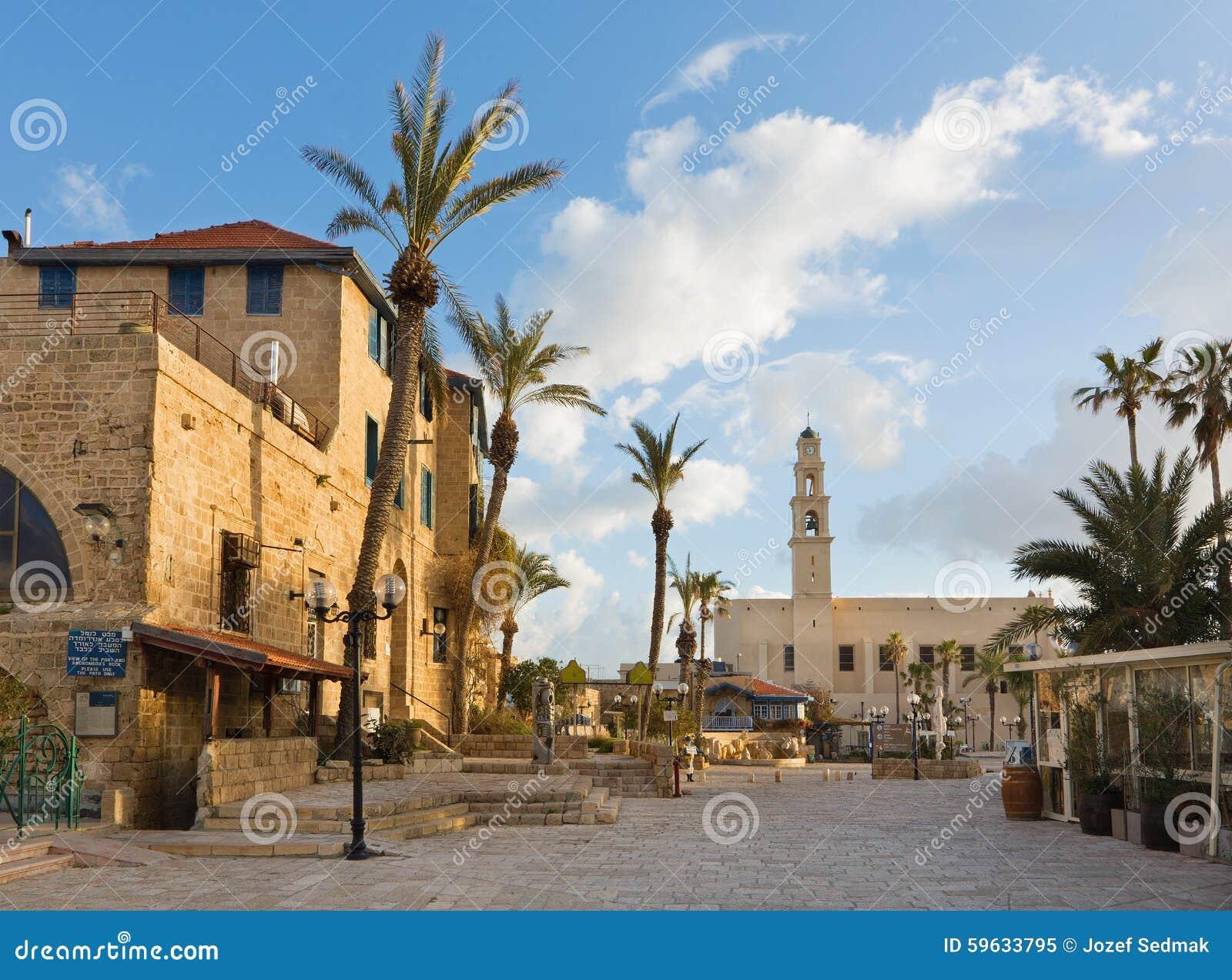 Tel Aviv - The st. Peters church in old Jaffa on Kedumim Square.