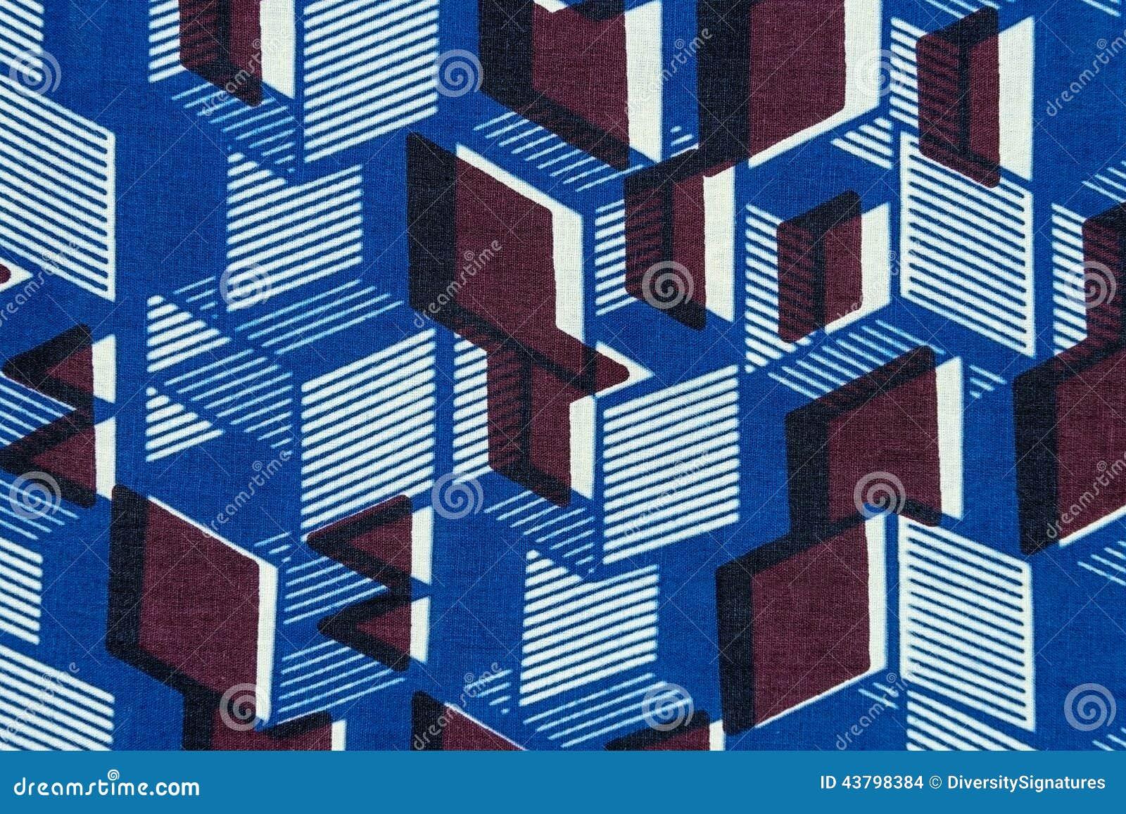 Tela africana manufaturado (algodão)