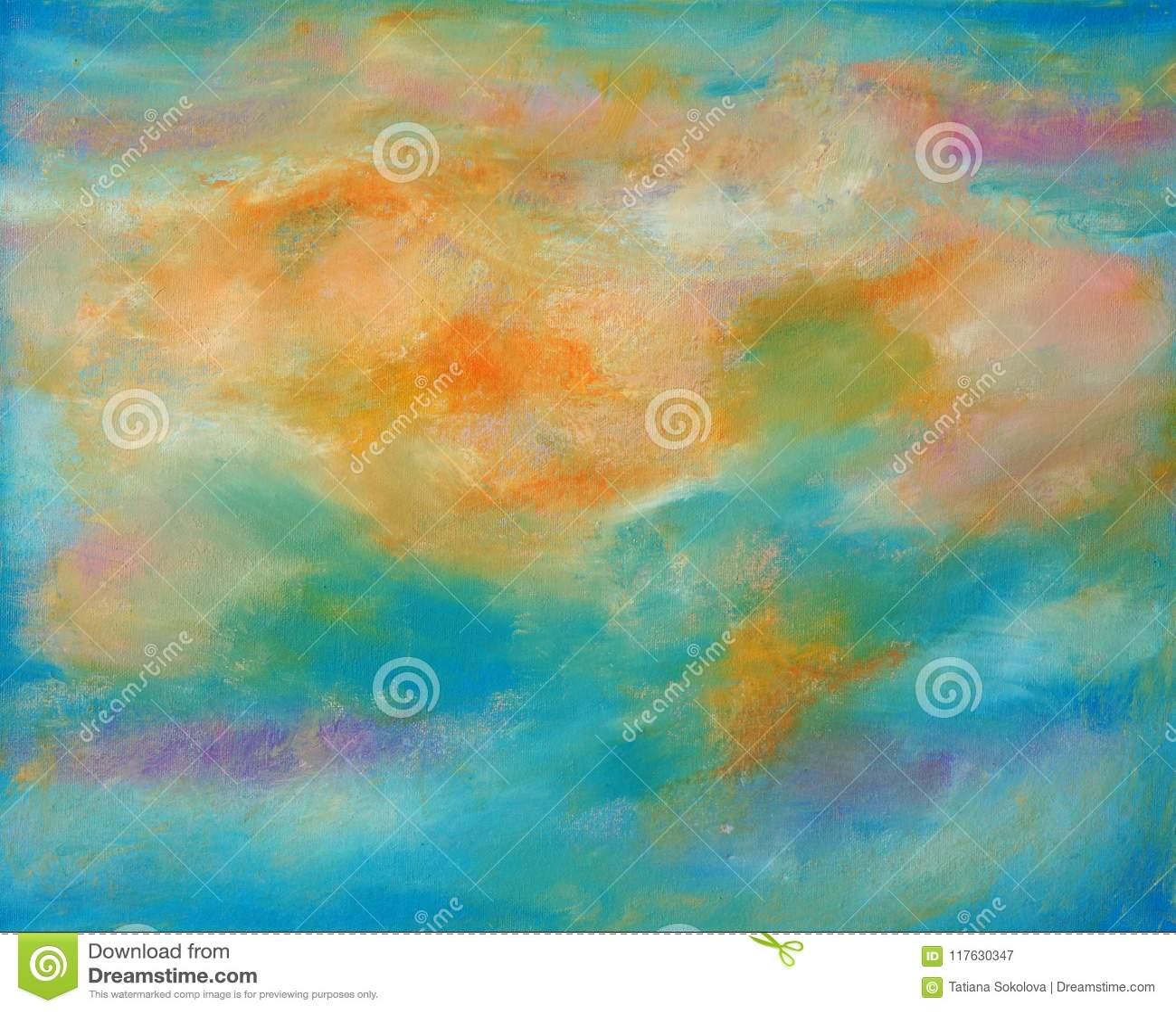 Tela astratta a colori i colori caldi