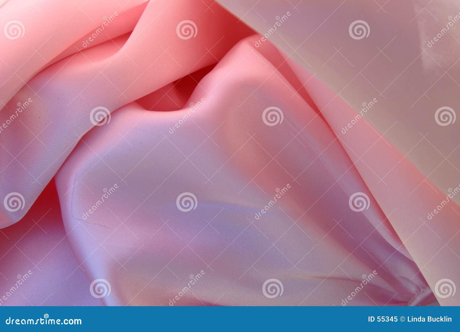 Tela cor-de-rosa de seda