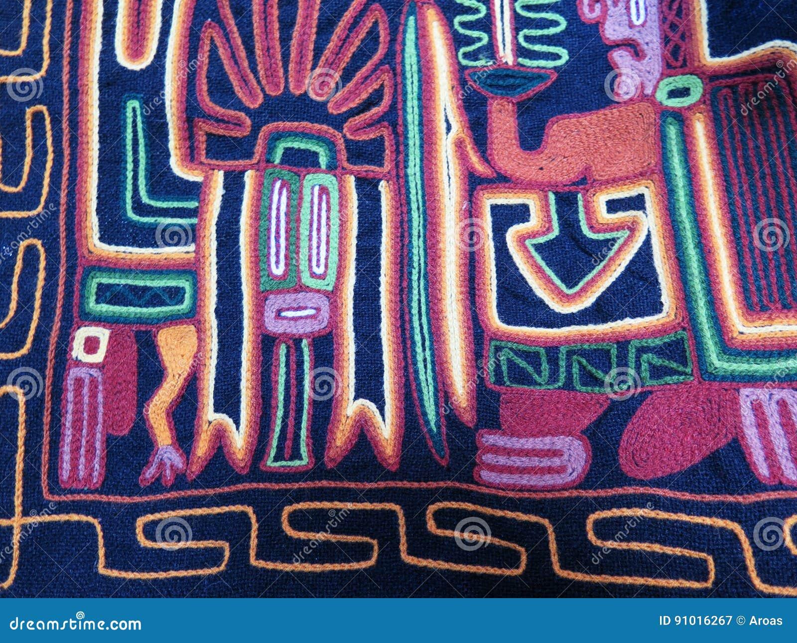 Tela de lã feito à mão peruana