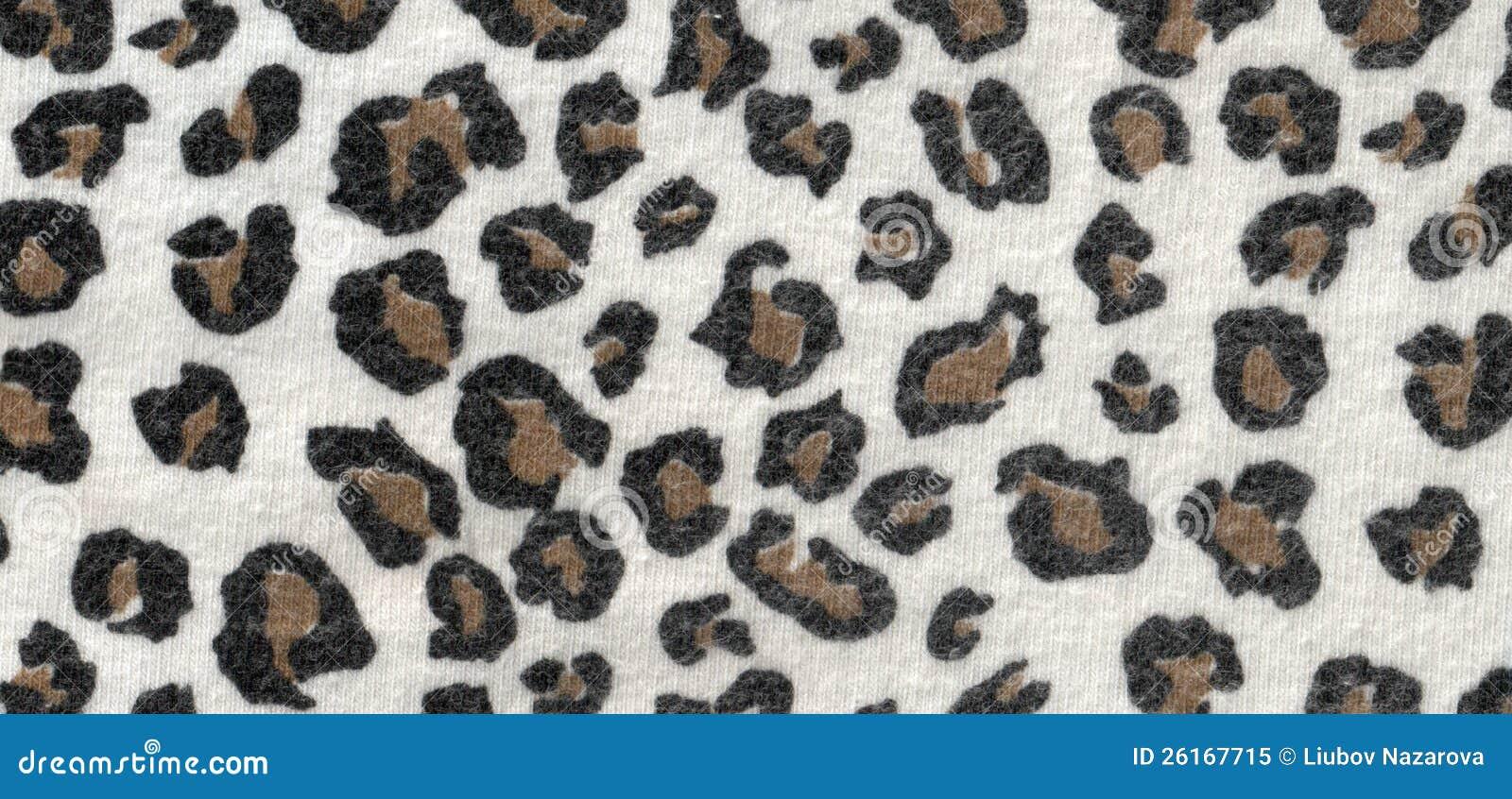 Tela de las lanas del leopardo
