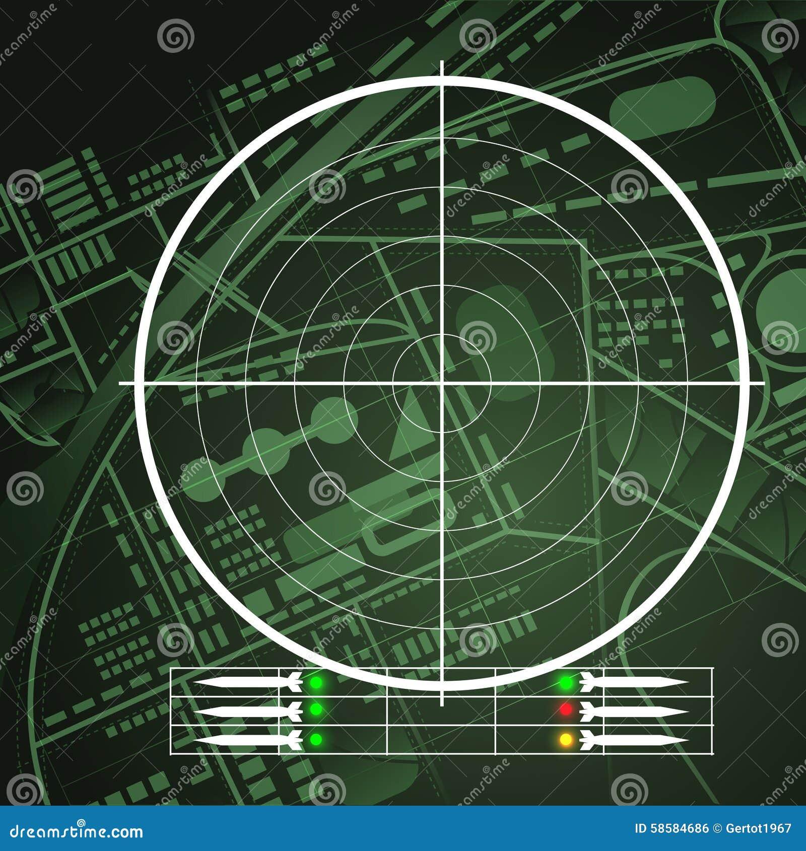 Tela de radar do zangão