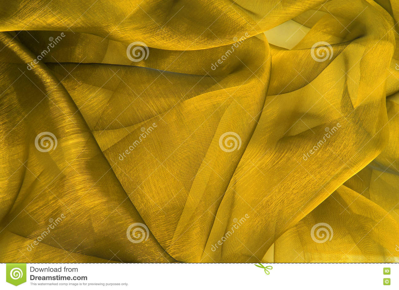 Tela ondulada de organza