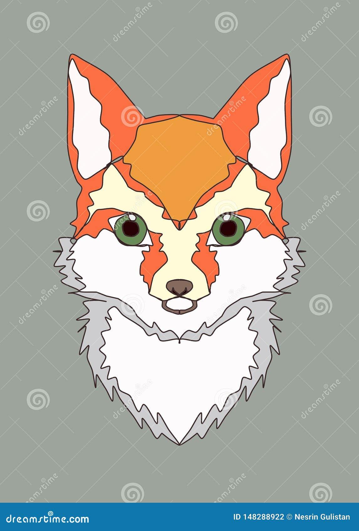 Tela sveglia di applique della stampa del ricamo degli animali, decorazione della parete della stanza dei bambini della volpe, st