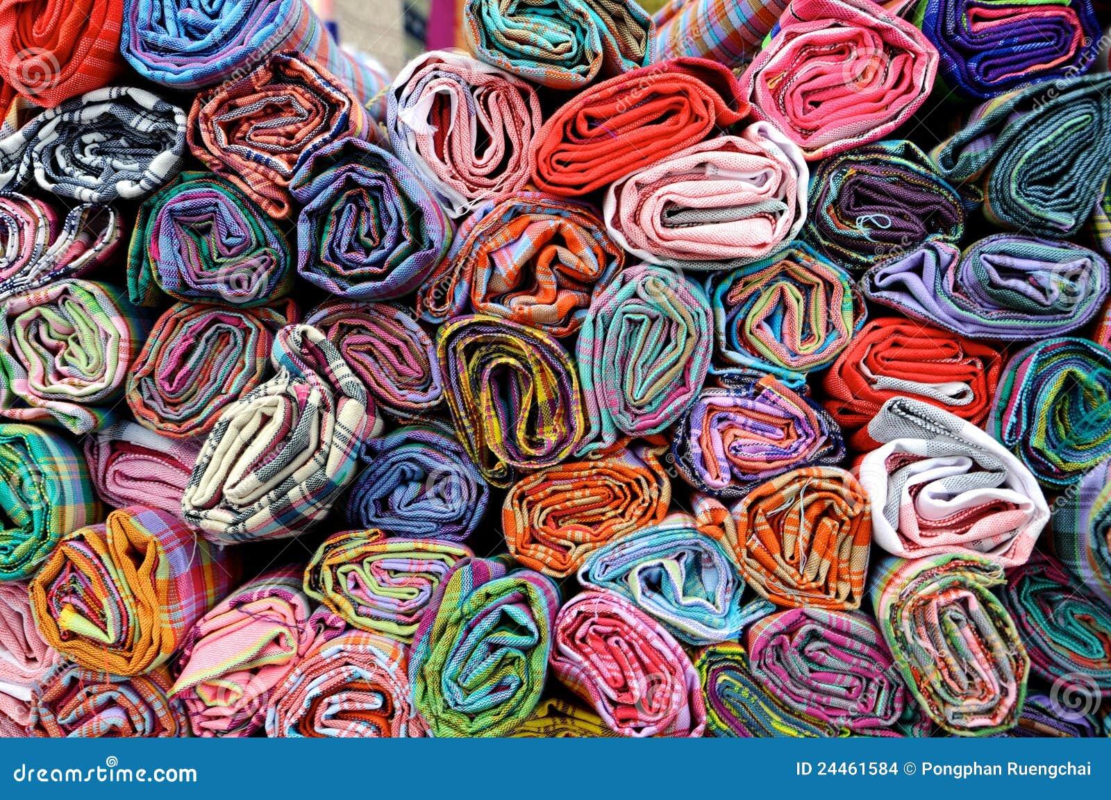 Telas coloridas imagenes de archivo imagen 24461584 - Les plus beaux tissus ...