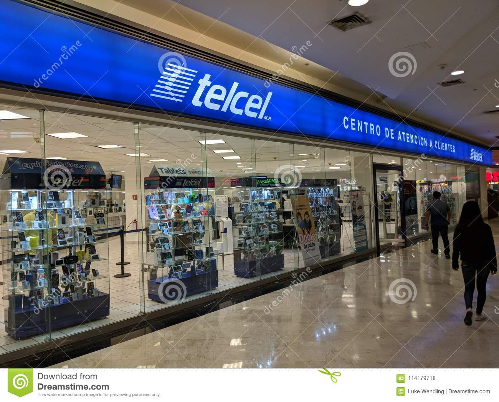 Telcel-Speicher gelegen in San Agustin Mall