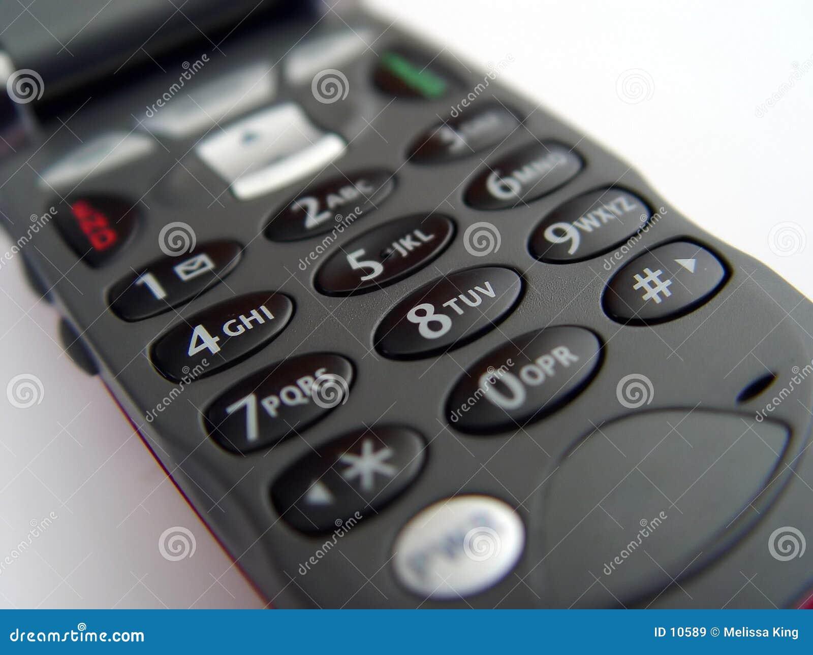 Telclado numérico del teléfono móvil