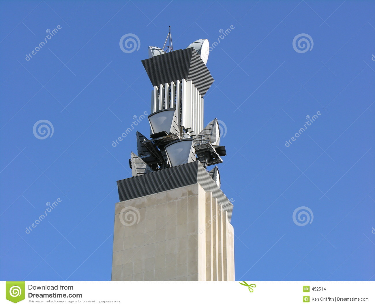Download Telecom Tower stock photo. Image of send, microwave, blue - 452514