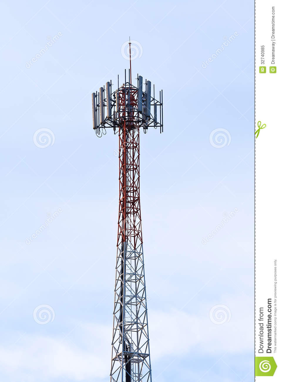 Telecom Tower. Royalty Free Stock Photo - Image: 32740985