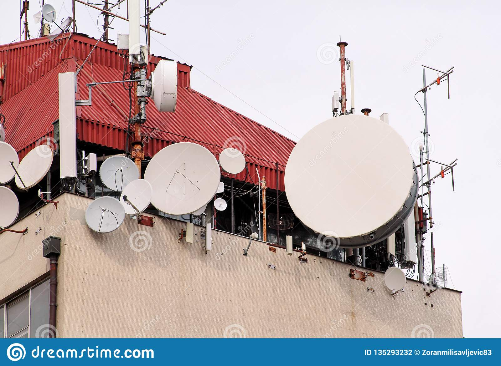 Telecommunication Base Stations Network Repeaters On The