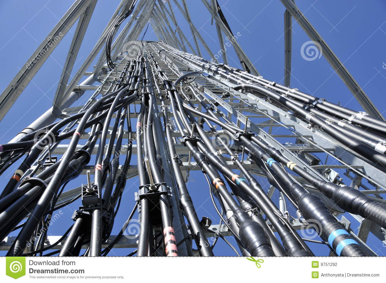 Telecommunication Cable Tray Stock Photography - Image