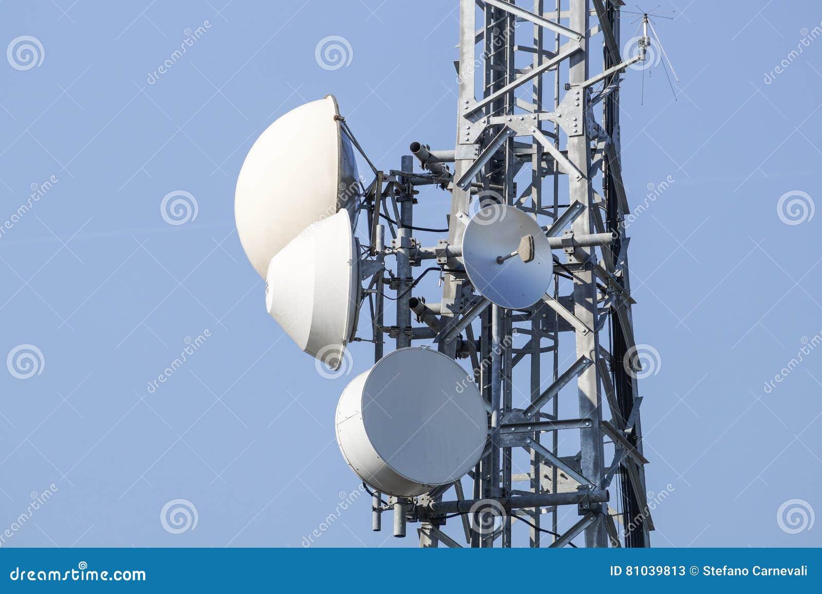 Storage radio communication, broadcasting and television antennas