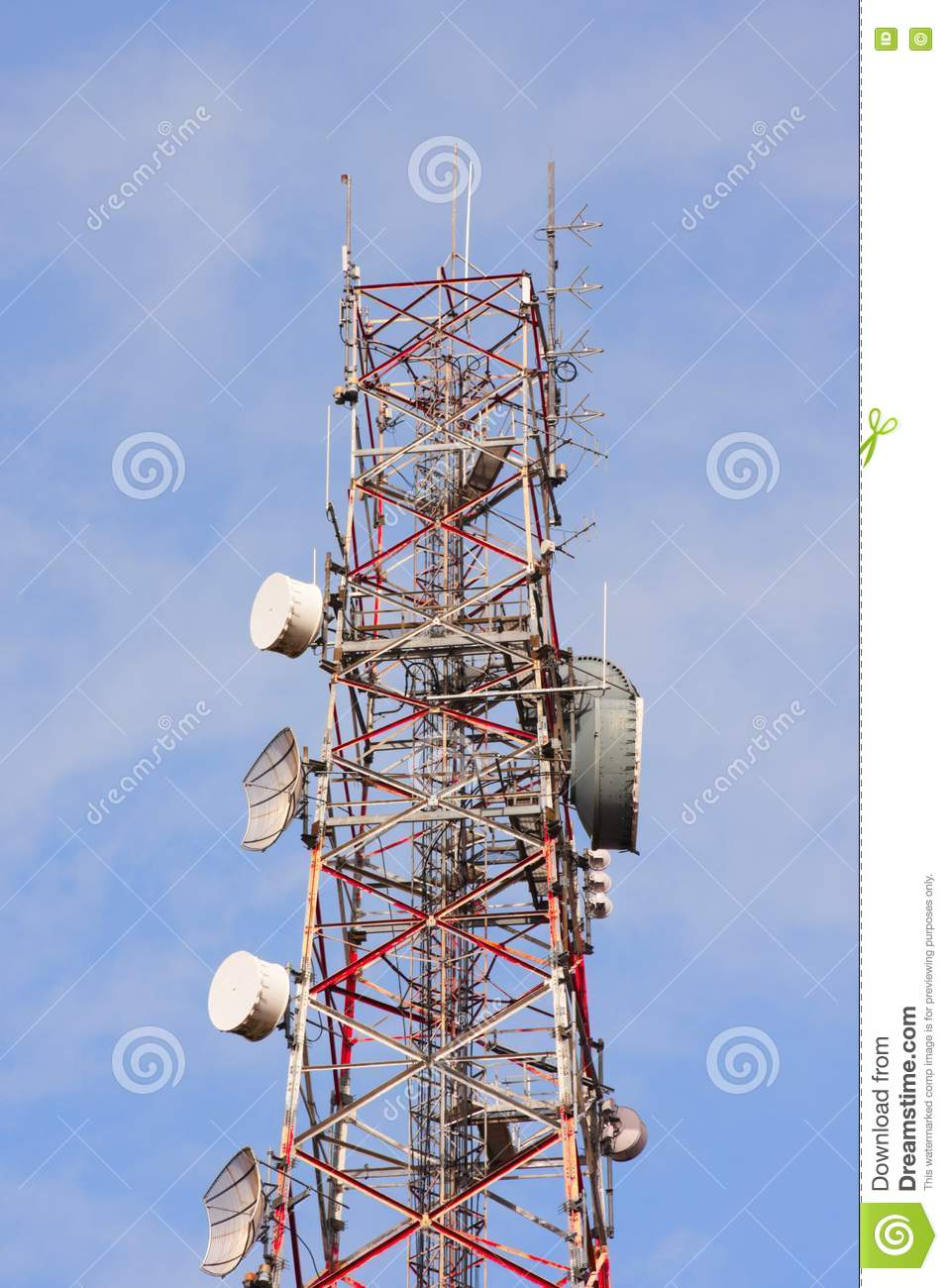 Telecommunication Room Design: Telecommunication Tower Stock Image. Image Of Clear