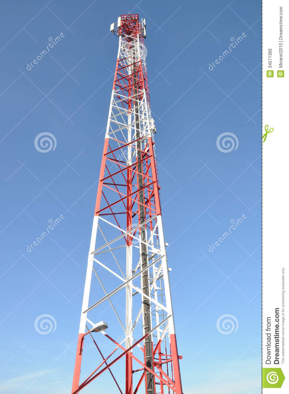 Broadcast Tower Vector Telecommunication Towe...