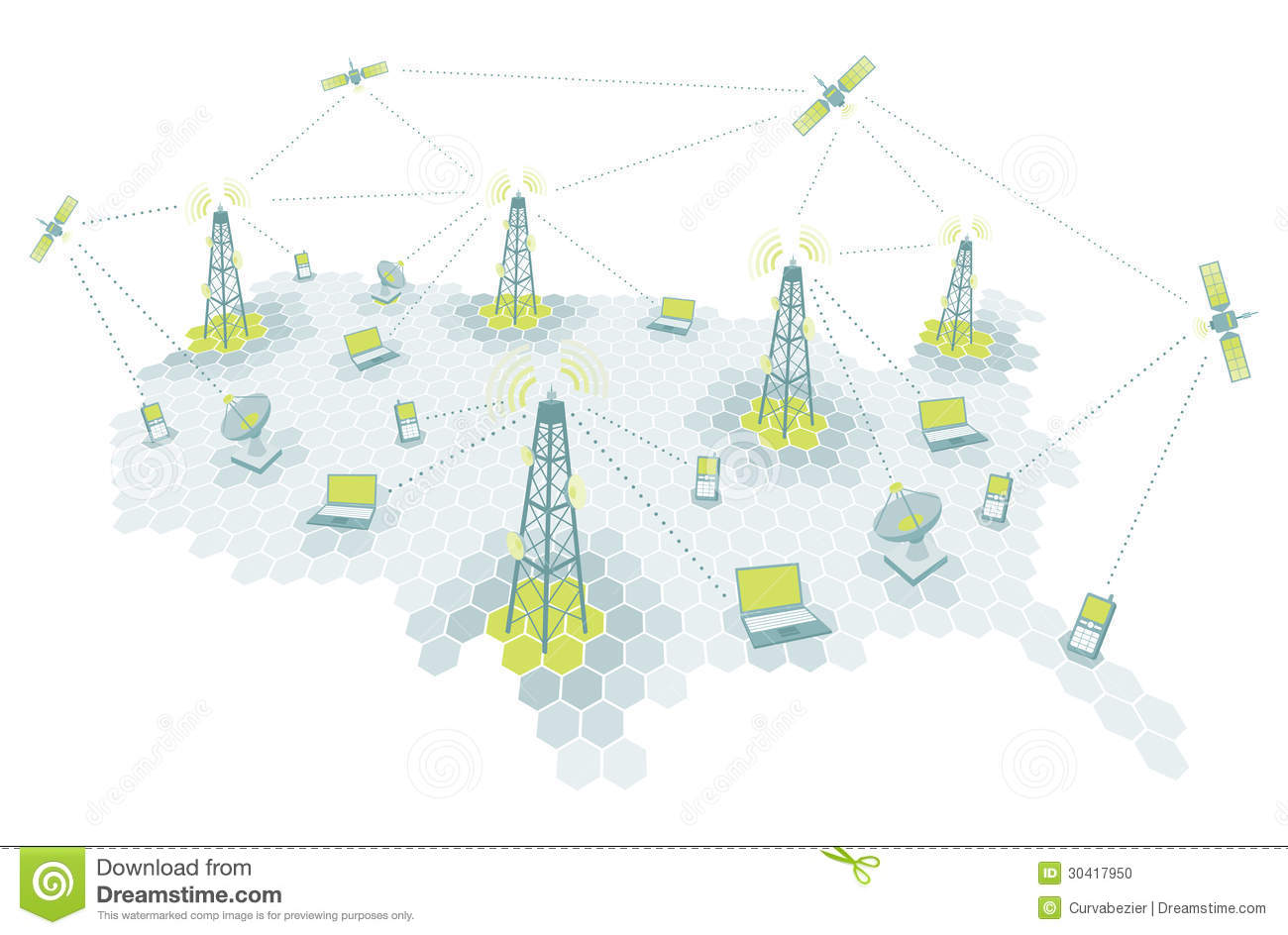 Telecommunication working diagram stock vector illustration of royalty free stock photo download telecommunication ccuart Images