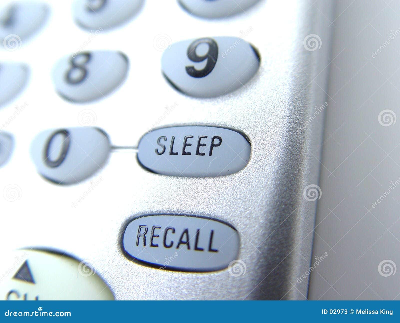 Telecontrol con el botón del sueño