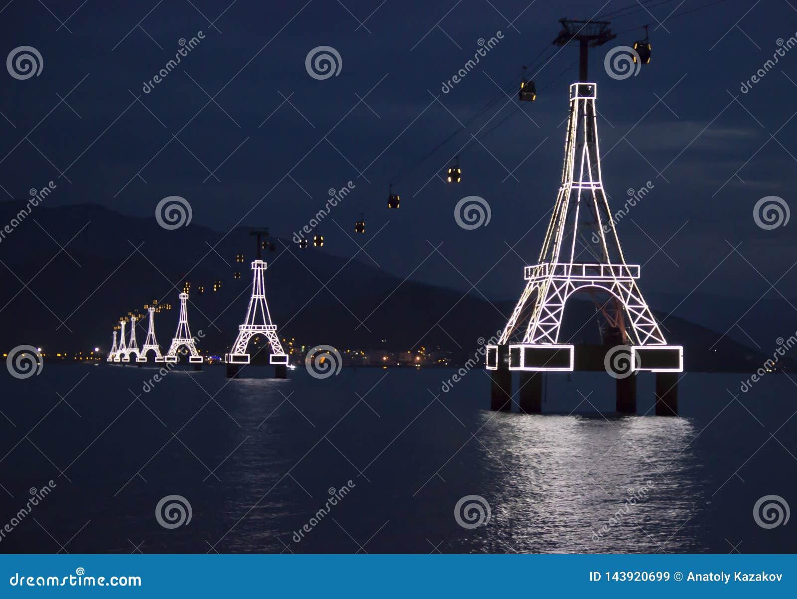 Teleférico através do mar