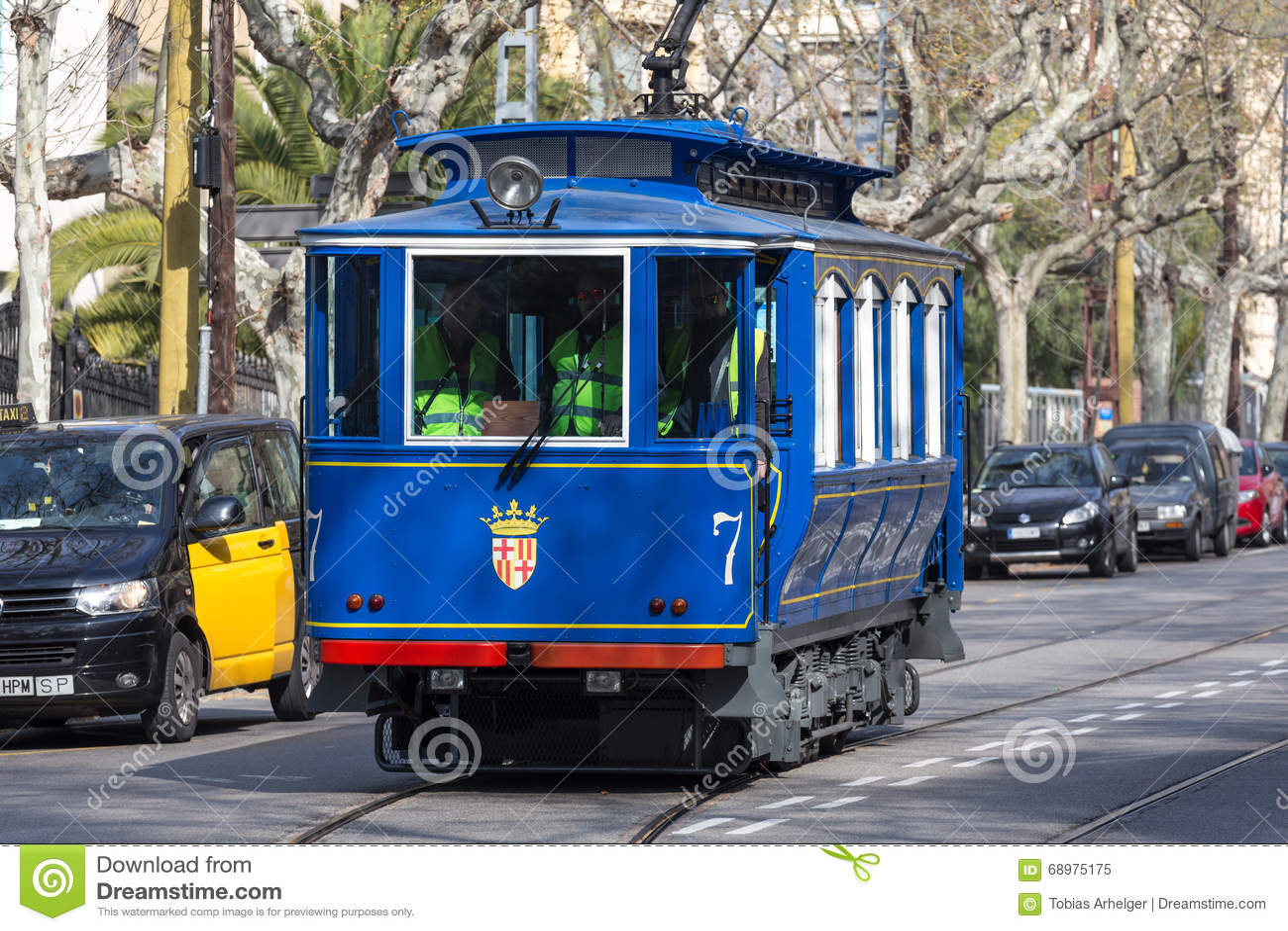 Teleférico Barcelona España del blau del tramvia