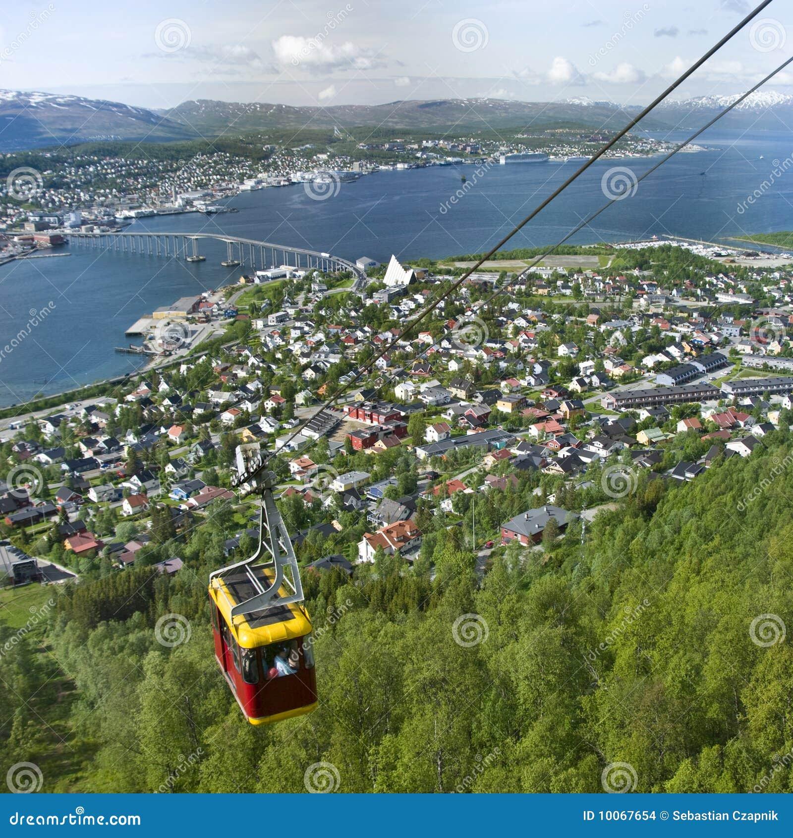 Teleférico em Tromso, Noruega