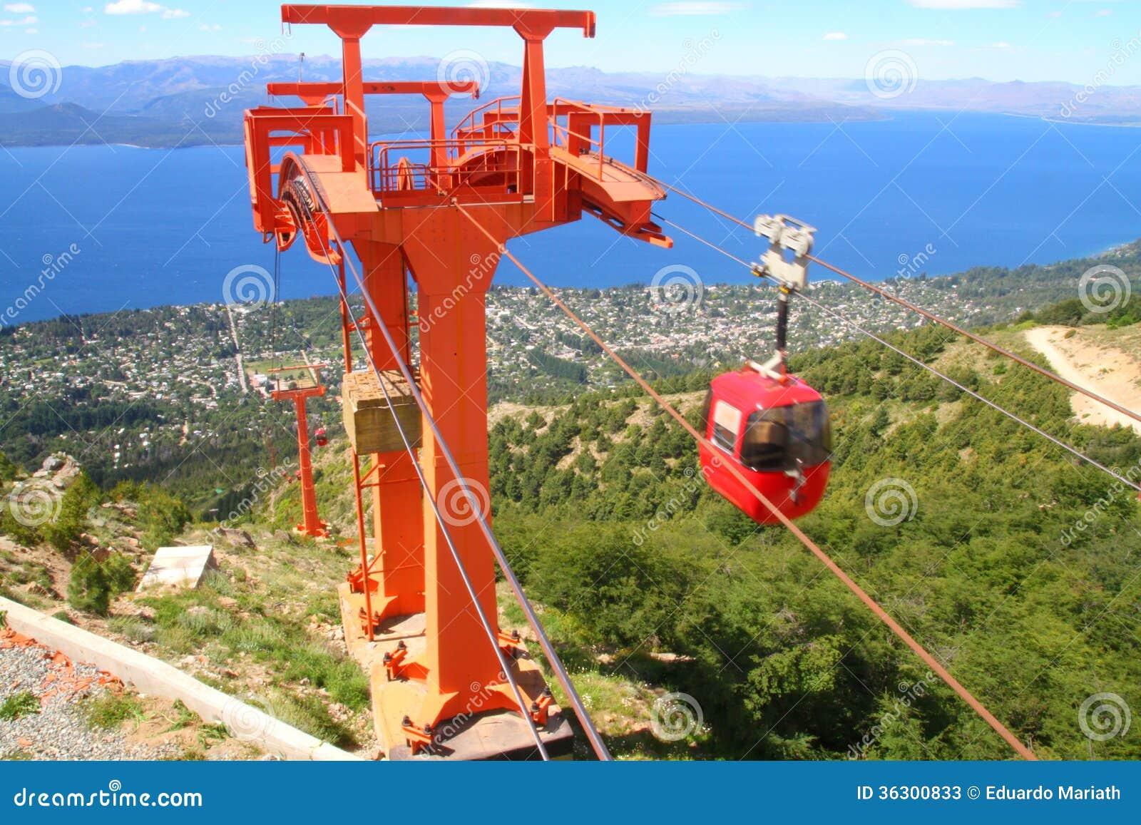 Teleféricos en el movimiento en Cerro Otto - Bariloche