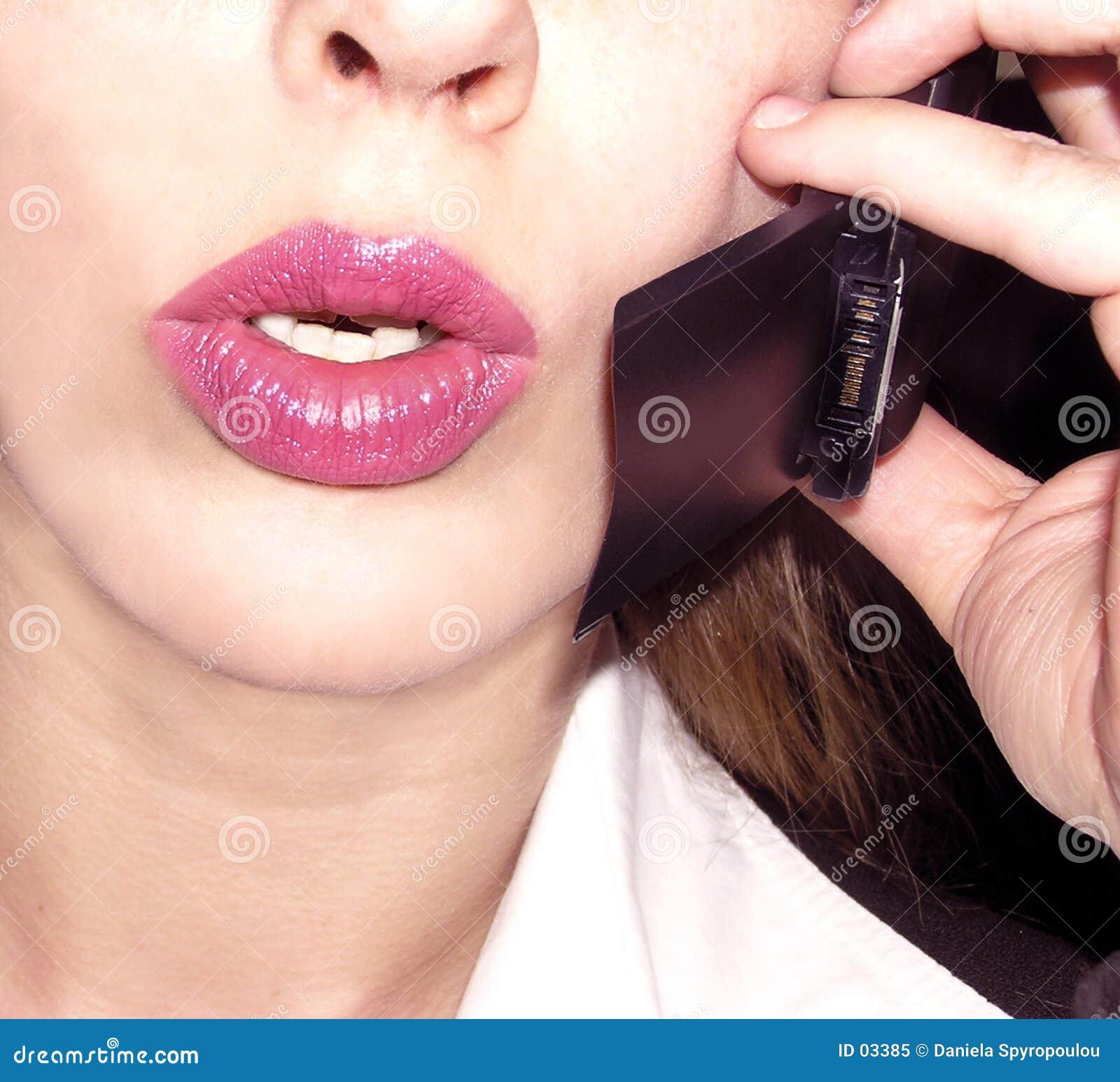 Download Telefon obraz stock. Obraz złożonej z usta, komunikacje, szachrajka - 3385