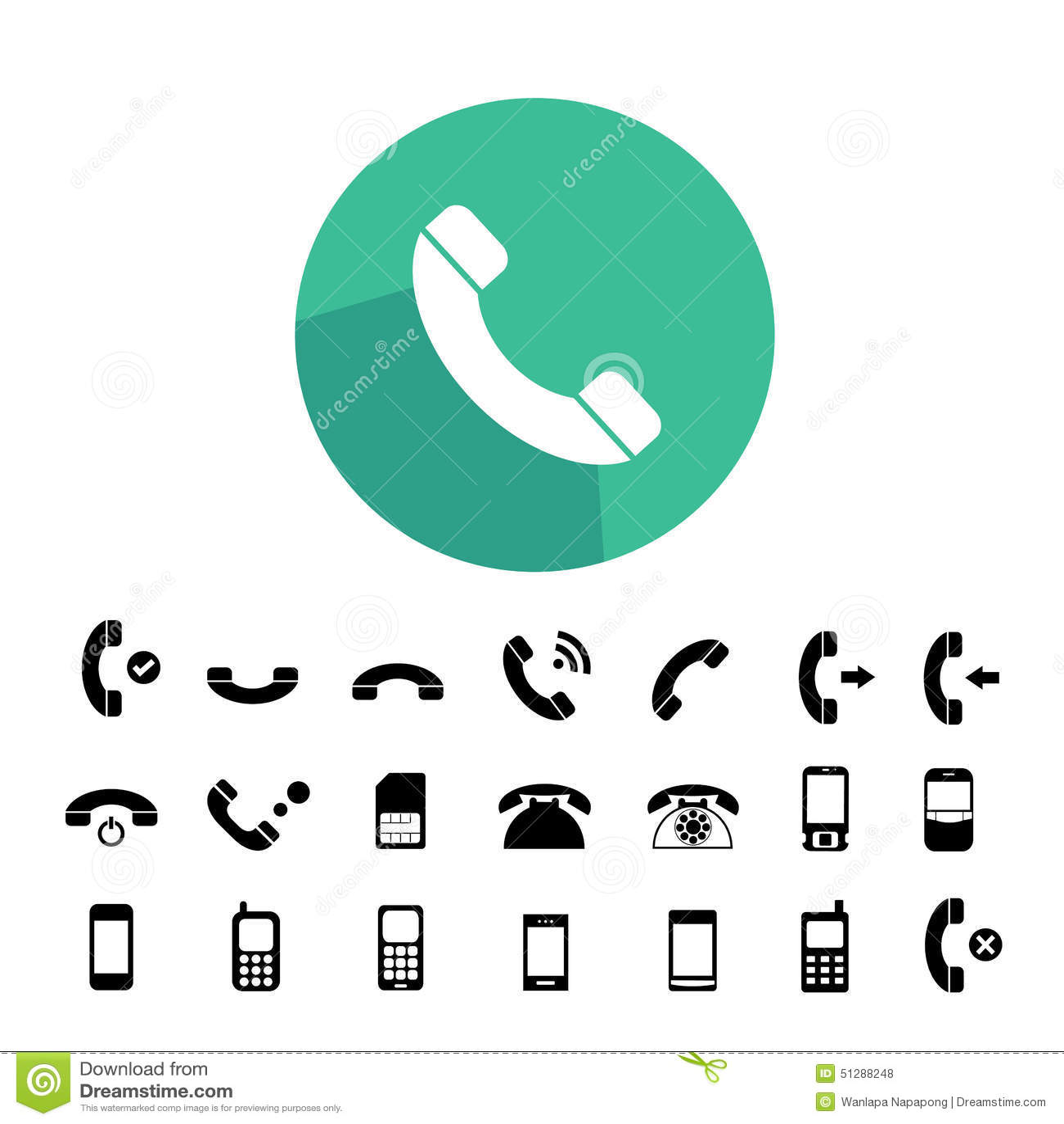 Telefon ikony ustawiać