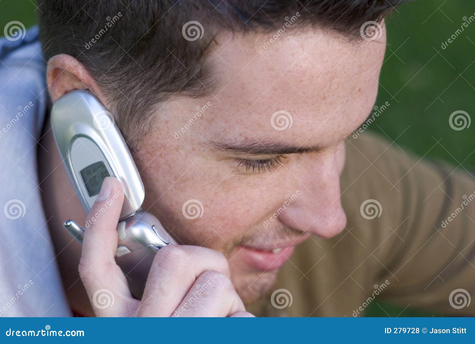 Telefon-Junge