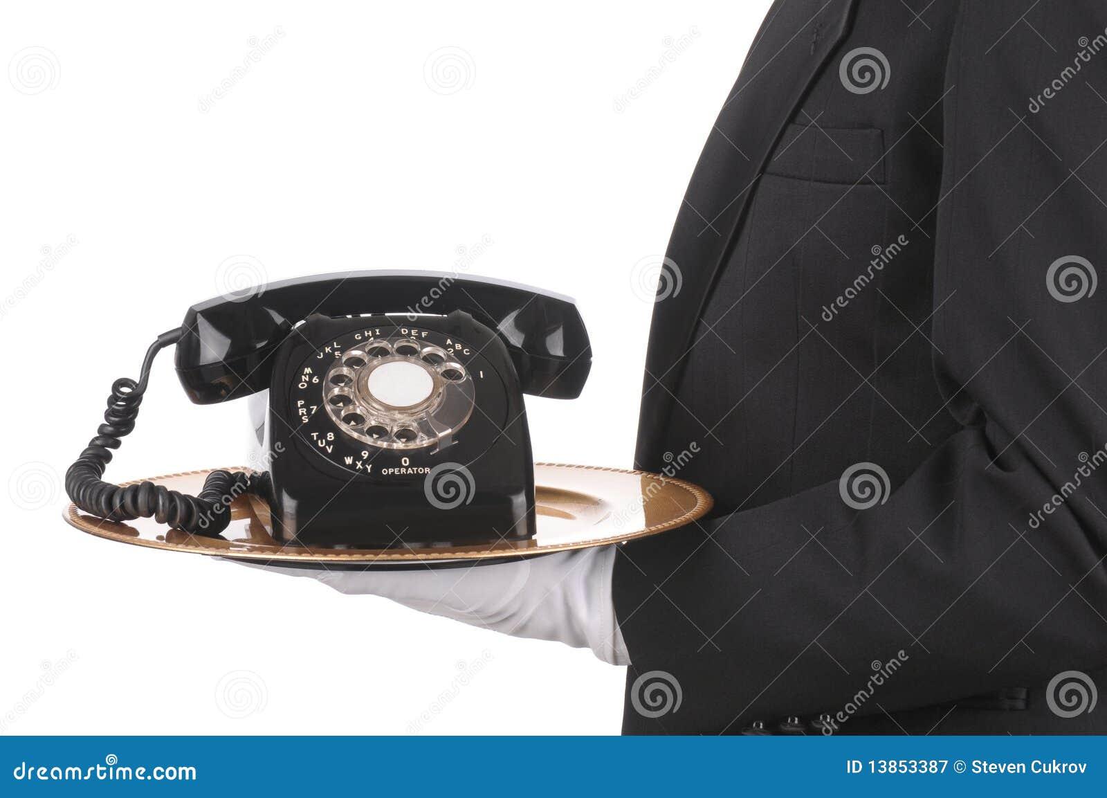 Telefon kamerdynerska taca