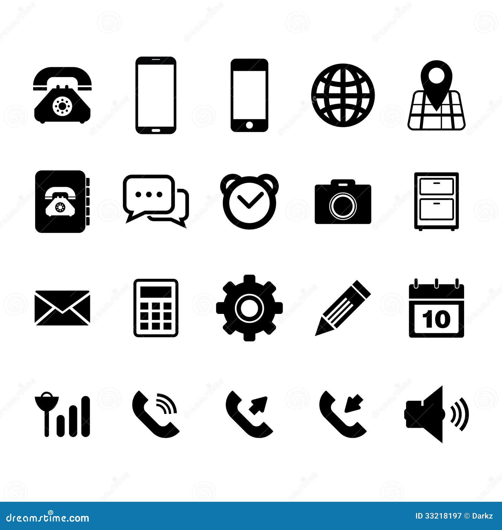Telefon Kom 243 Rkowy Ikona Ilustracji Ilustracja Złożonej Z