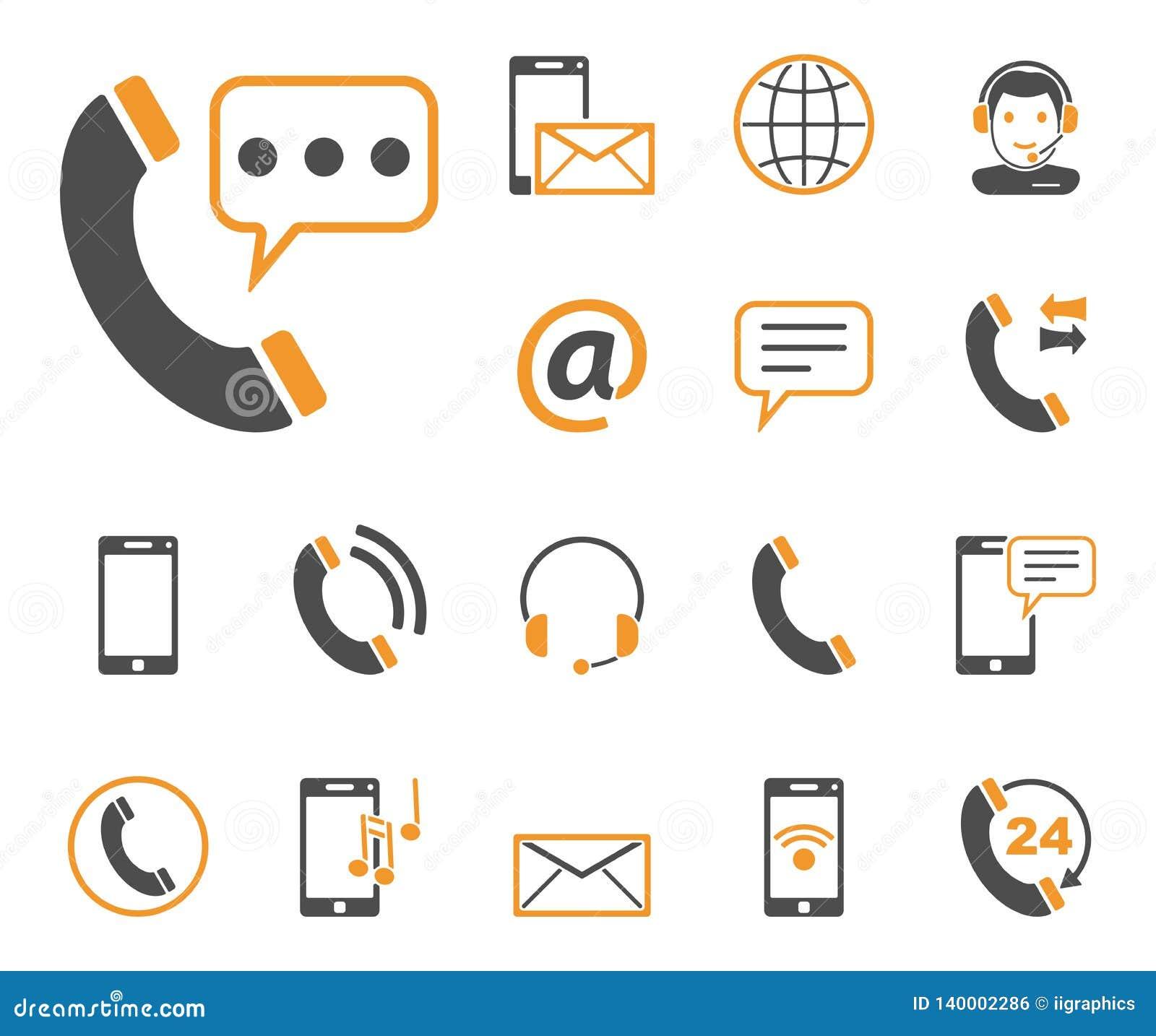 Telefon & komunikacja ikony - Iconset -
