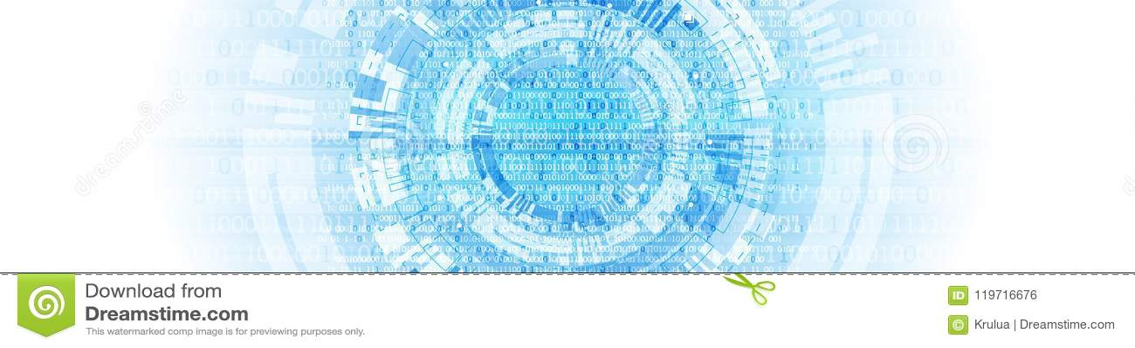 Telefon mit Planetenerde und binärem Code Binärer Computercode Vektor Illustratio