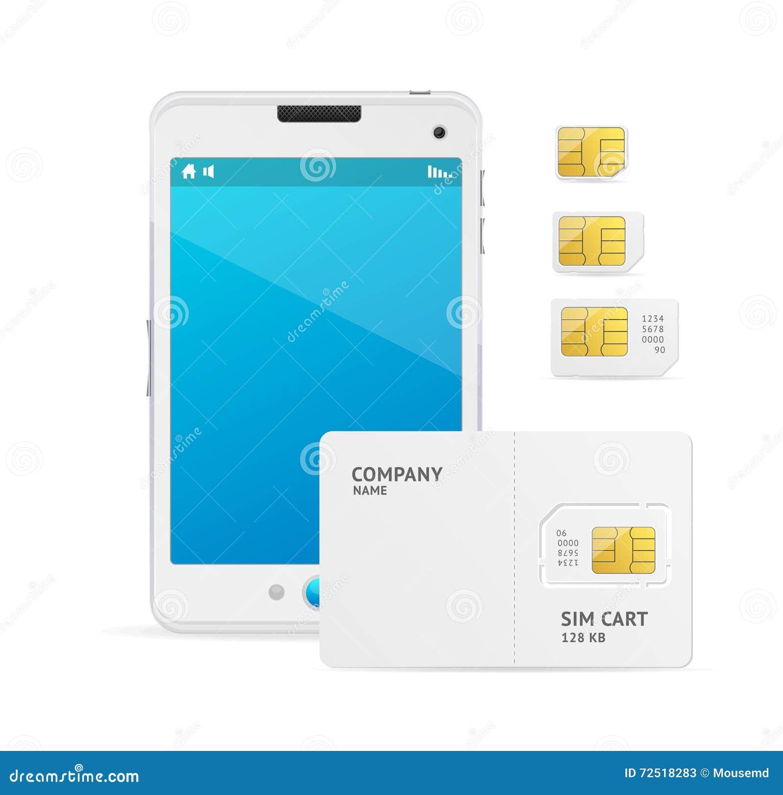 Sim Card Template | Telefon Sim Card Template Vektor Vektor Abbildung Illustration Von