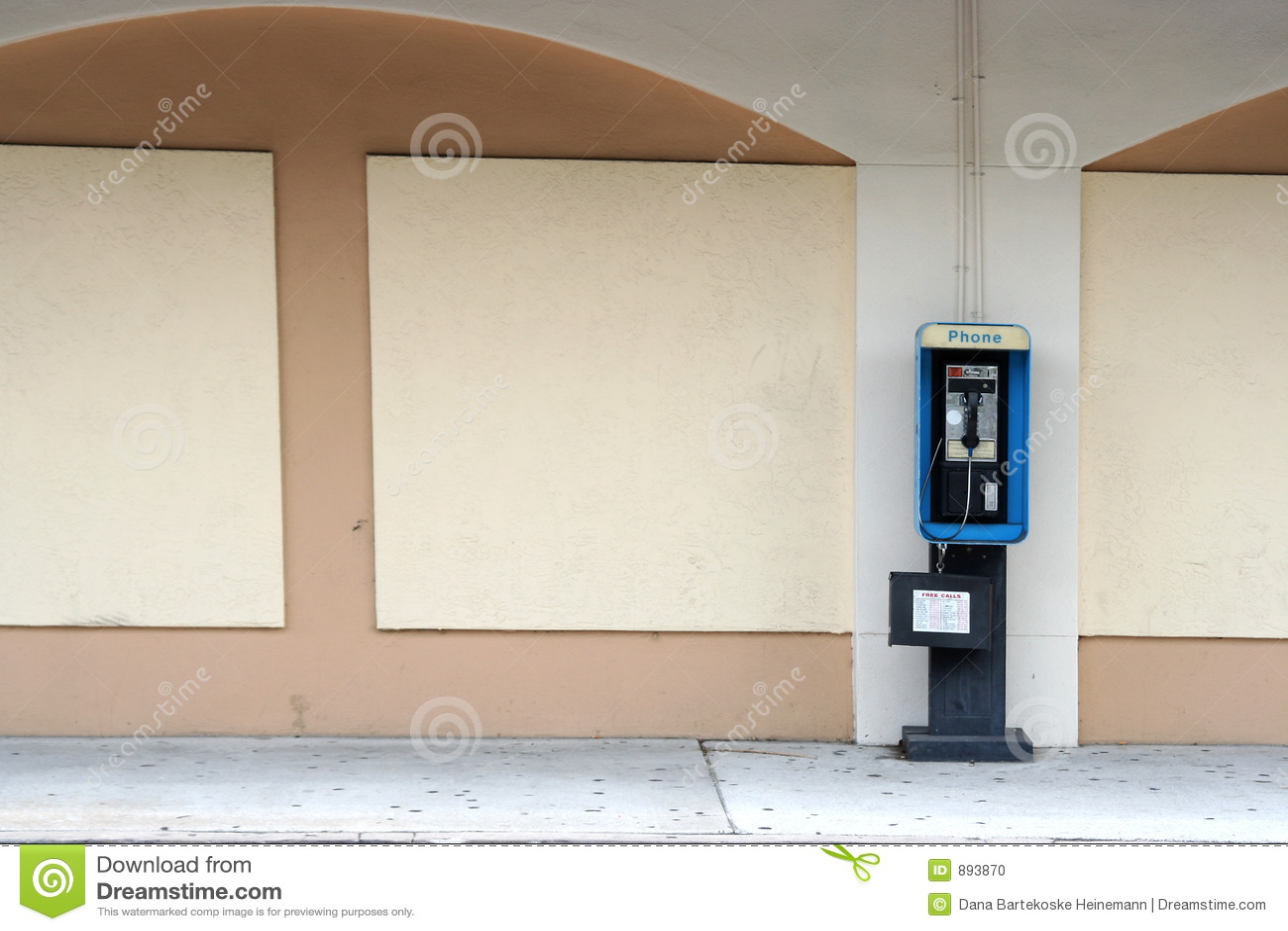Telefone de pagamento vazio