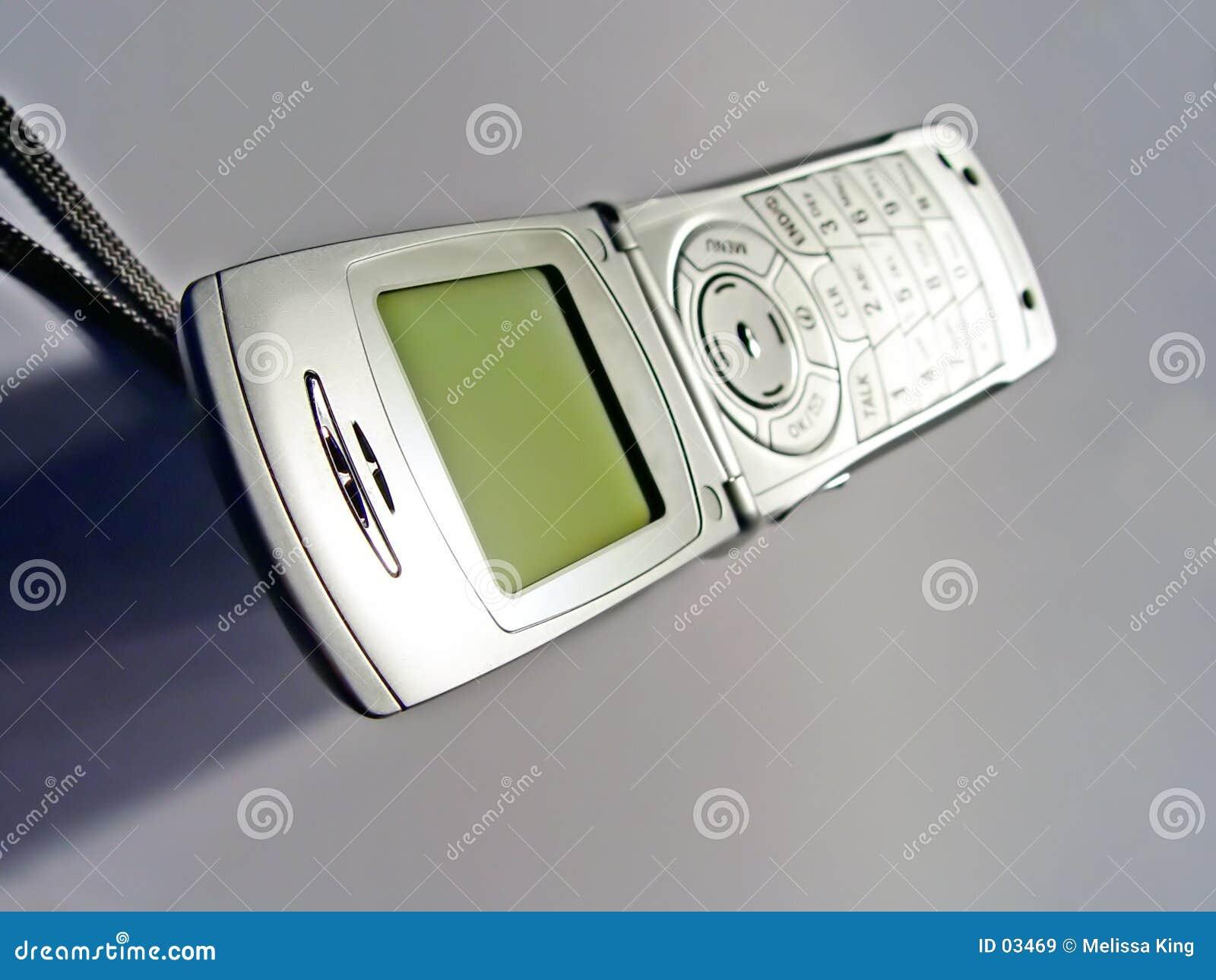 Telefone de pilha aberto
