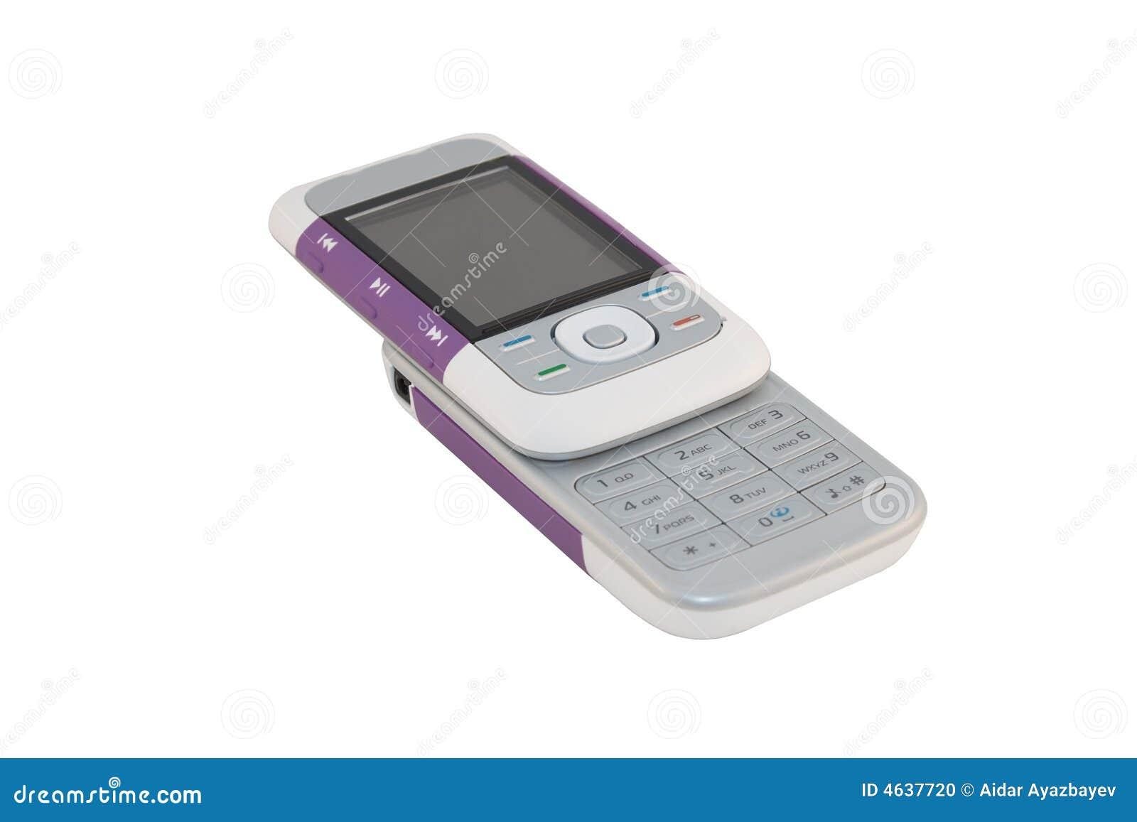 Telefone de pilha roxo