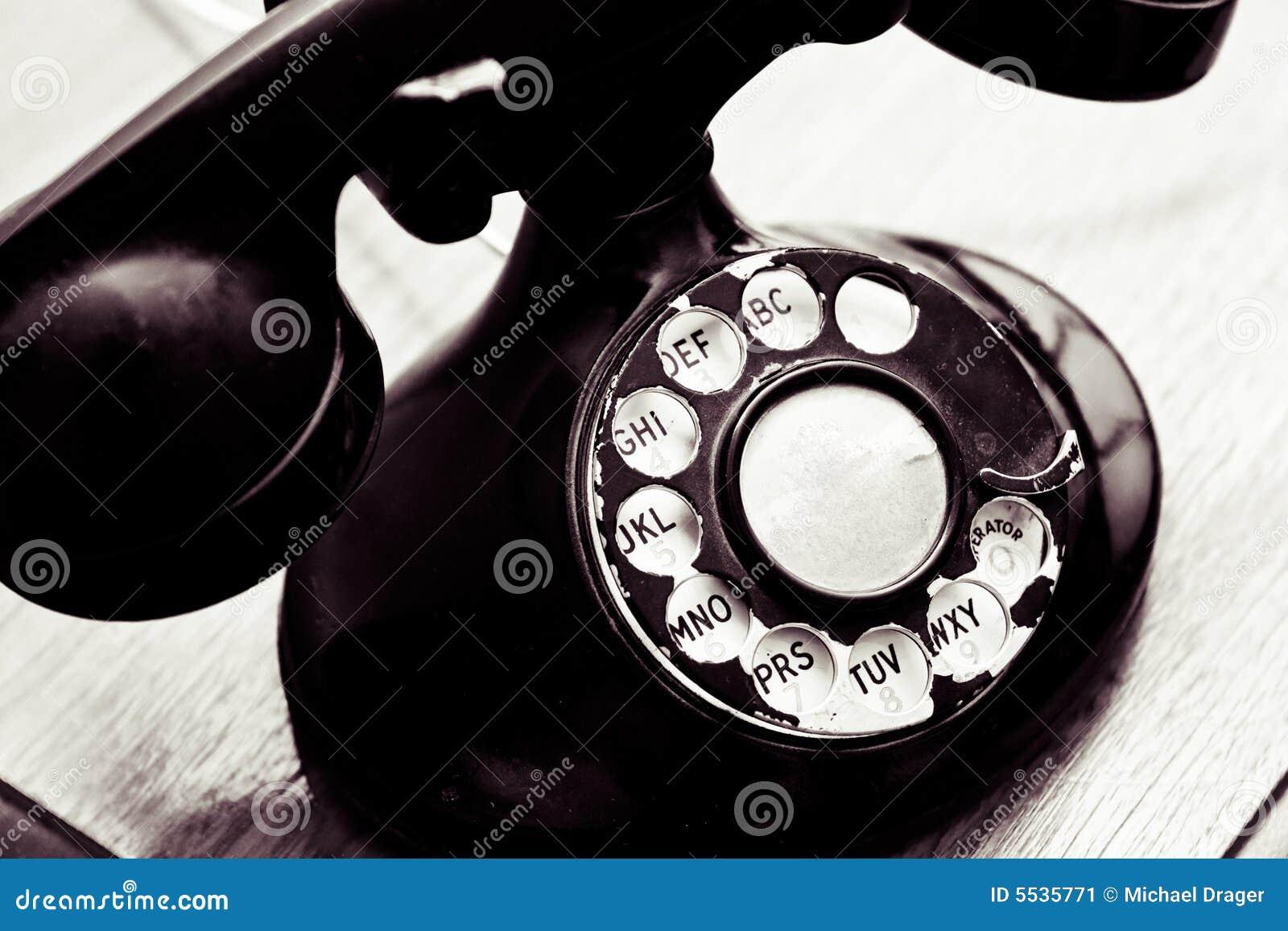 Telefone de seletor giratório do vintage