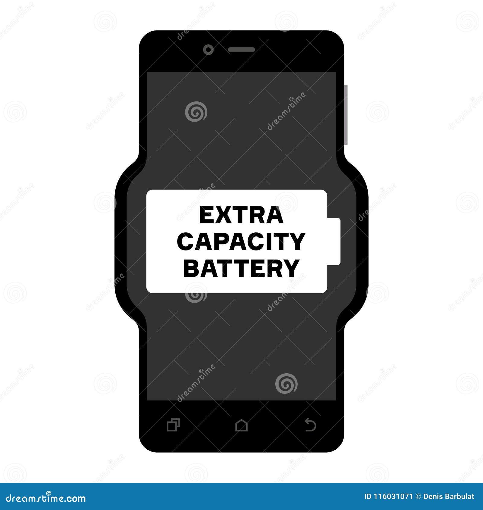Telefone esperto com a bateria extra da capacidade