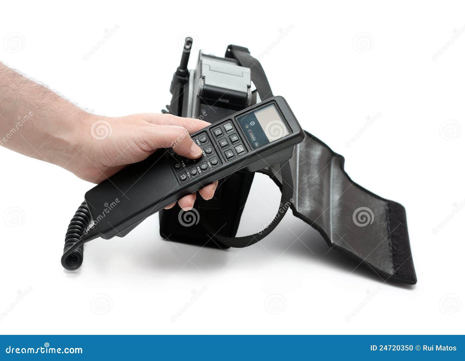 Telefone móvel antiquado