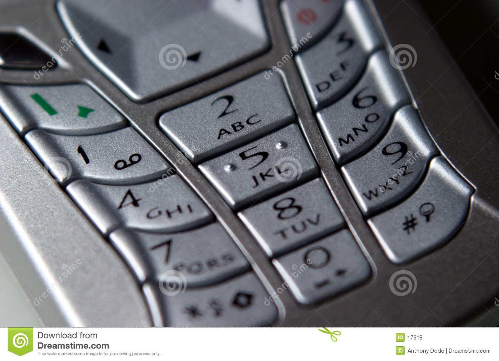 Telefone móvel, teclado