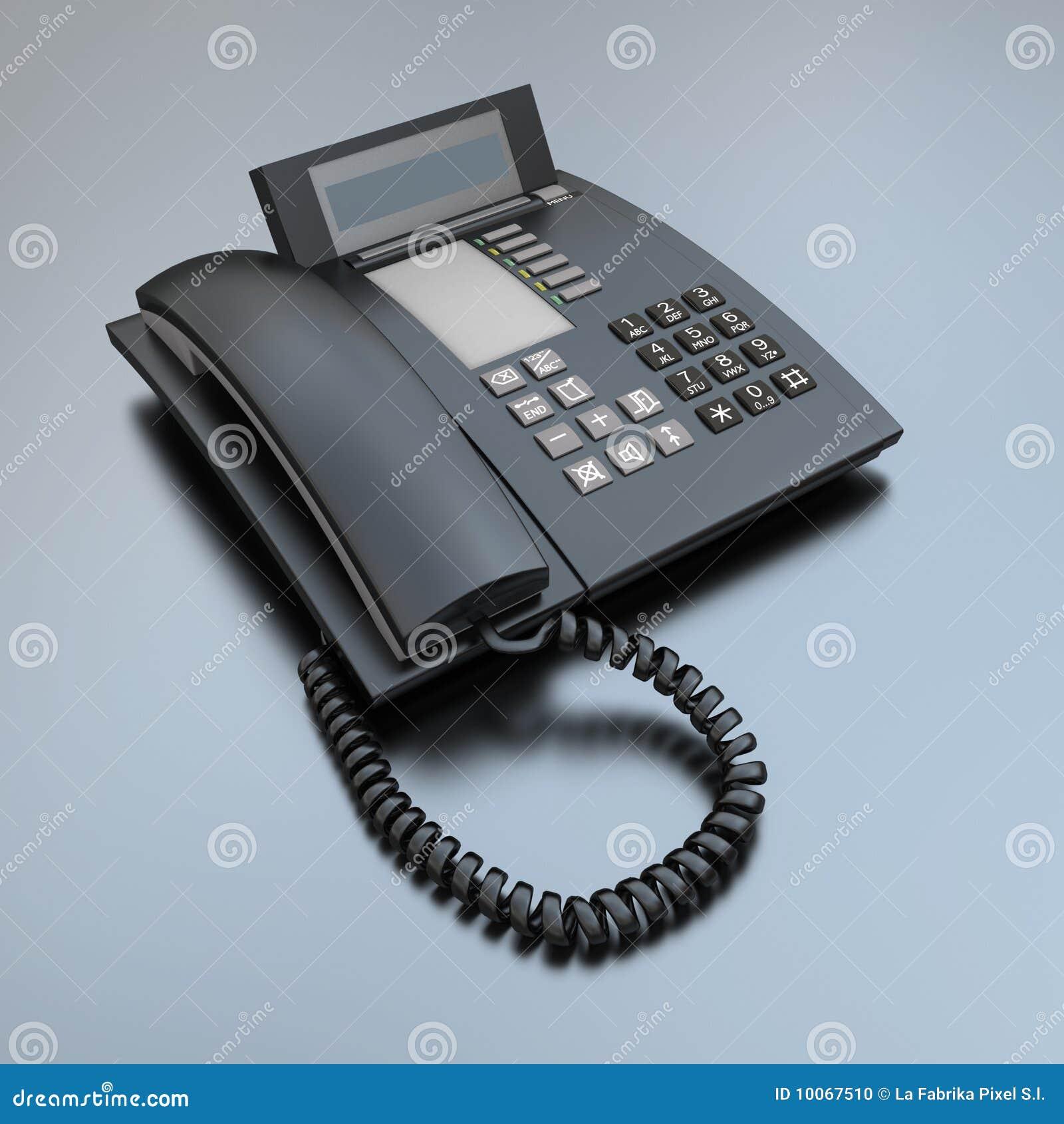 Telefone preto do negócio