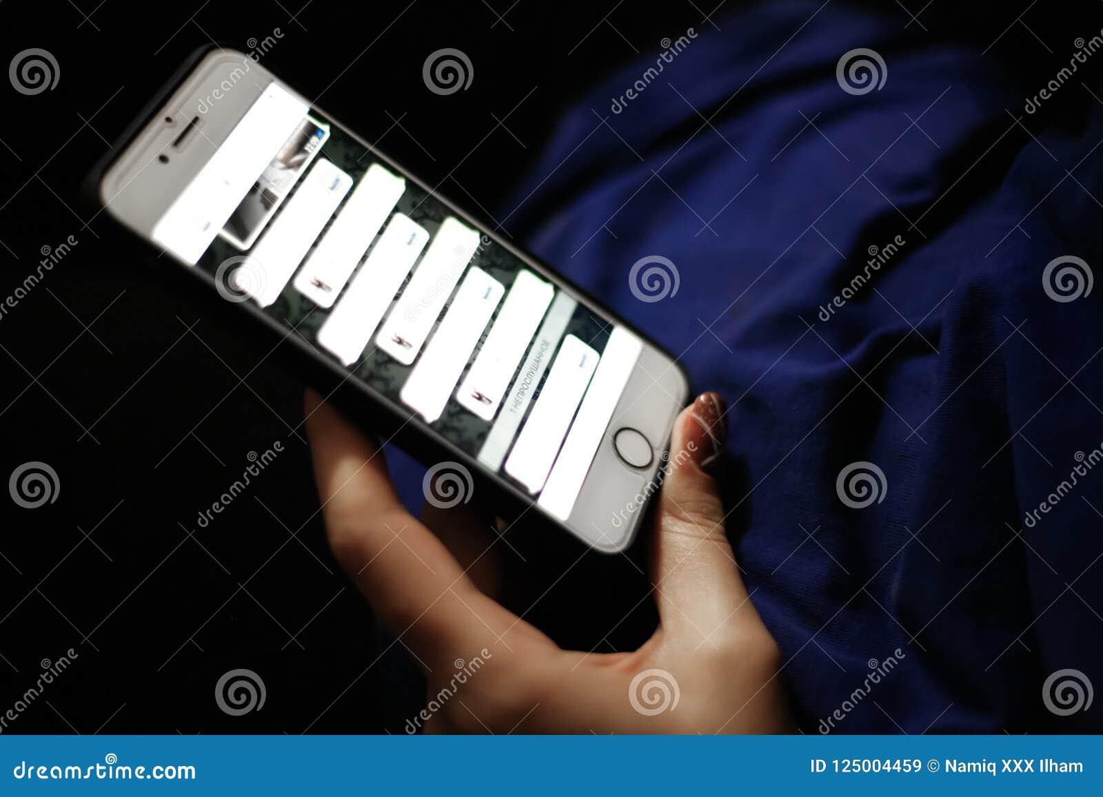 Telefone, rede social correspondência em redes sociais